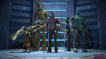 Guardians Of The Galaxy — Cast On Elevator