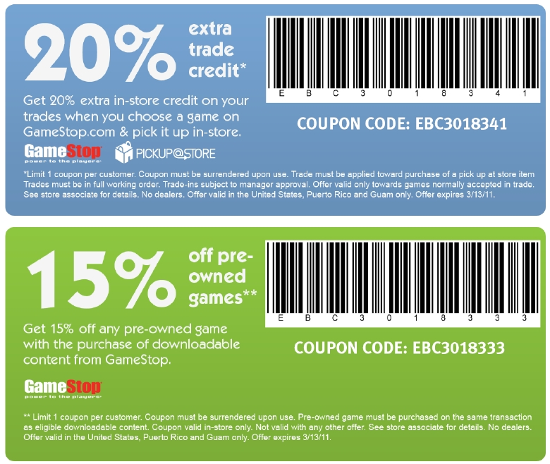 Game servers coupon 2018