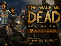 Fear For Clementine With The News Screens For The Walking Dead: Episode 3