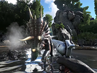 ARK: Survival Evolved Will Let You Shoot A Triceratops In The Face