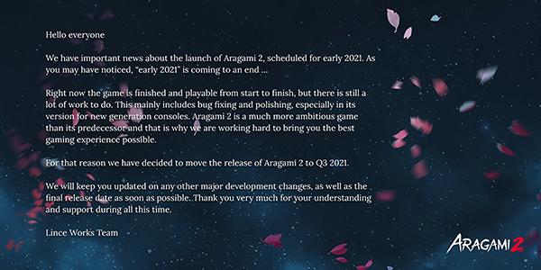 Aragami 2 — Delay
