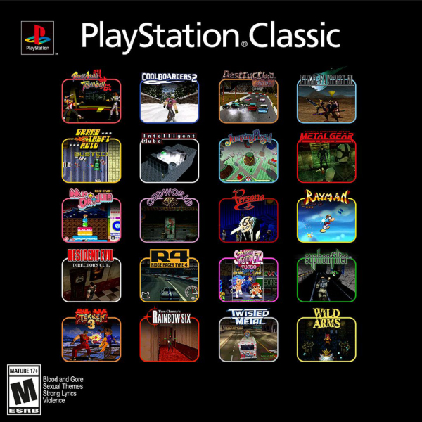 PlayStation Classic — Full Game List Reveal