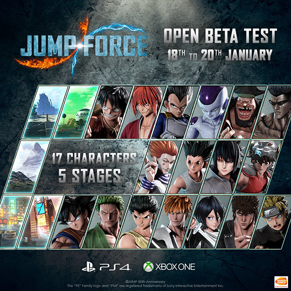 Jump Force — Beta Characters