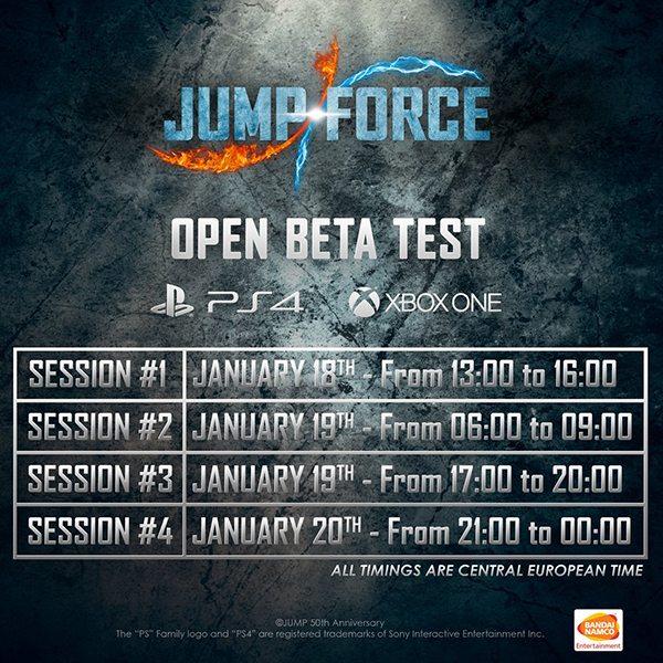 Jump Force — Beta Dates