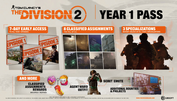 The Division 2 — 'Year 1' Season Pass