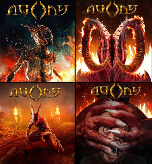 Agony — Physical Covers