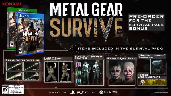 Metal Gear Survive — Pre-Order