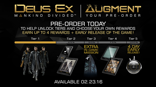 Deus Ex: Mankind Divided — Pre-Order Canceled