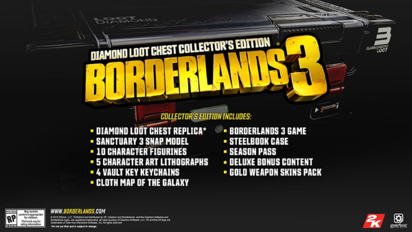 Borderlands 3 — Diamond Loot Chest Collector's Edition