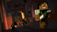 Minecraft: Story Mode — Season 2 — Cave Of Wonders Tunnels Spiders
