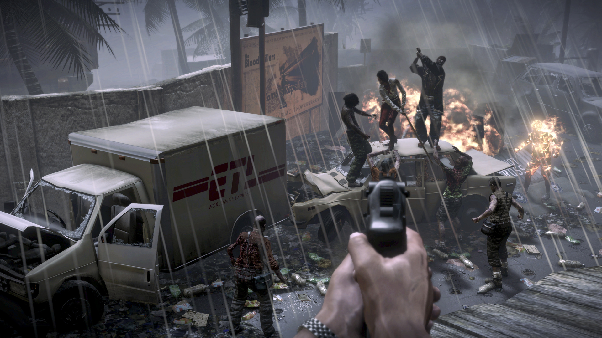 how to change weapons in dead island xbox 360