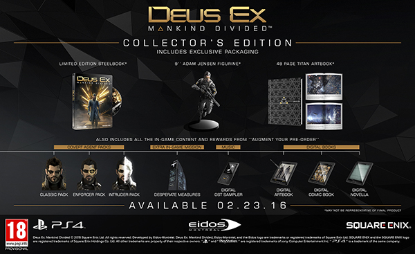 Deus Ex: Mankind Divided — Collector's Edition