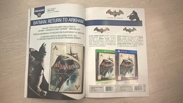 Batman: Return To Arkham — Box Art